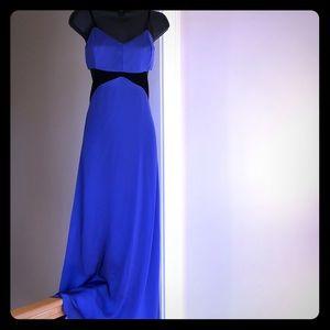 SILENCE and NOISE silky purple maxi dress sz8